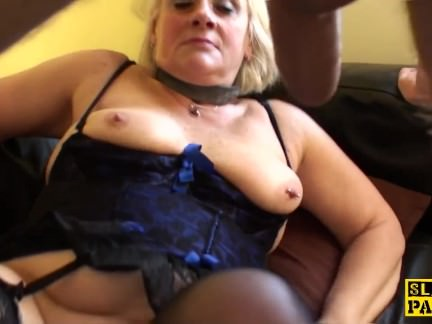 Bigtitted british gran gets rough domination