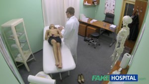 Fakehospital horny bitch with giant tits gets doctors treatment